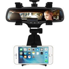 Cattree Car Vehicles Rearview Mirror Mount Holder For Cell Phone GPS 3.5-6.0'' - intl