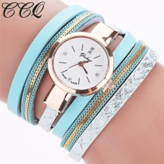 CCQ 2016 New Fashion Leather Bracelet Watches Casual Women Wristwatch Luxury Brand Quartz Watch Relogio Feminino Gift C39(Mint Green)