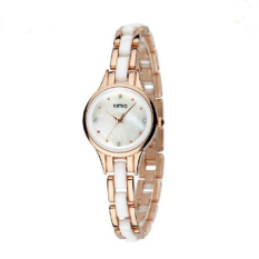 Ceramic Bracelet Watch Ladies Loose-fitting Women's Dress Women's Fashion Watch (Gold) (Intl)