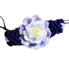 Ceramic Flower Bracelets Handmade Fashion Jewelry Vintage Accessories National Trend Charm For Women Girls - Intl