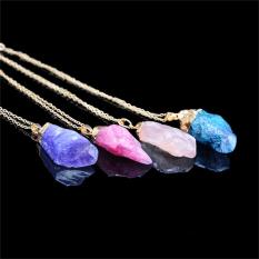 Charm Natural Crystal Quartz Stone Gemstone Pendant Womens Irregular Necklace Color6 - Intl