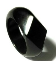 Cincin Style - Ring Giok Black Jade Aceh Diamond