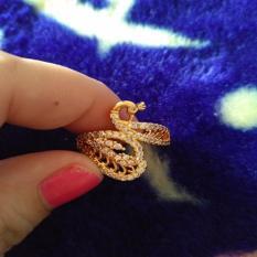 cincin xuping bentuk angsa gold