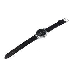 "Classic Man""s Quartz Electronic Analog Leather Band Strip Wrist Watch Black (Intl)"