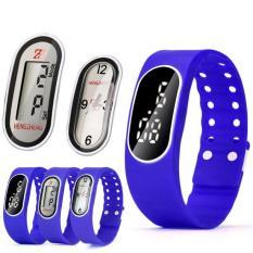 Coconie 3IN1 Mens Womens Rubber LED LCD Quartz Watch Date Sports Bracelet Wrist Watch Navy Blue Free Shipping
