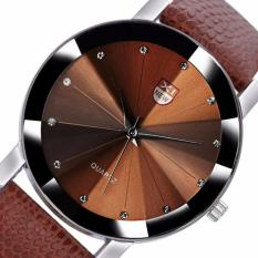 Coconiey Men Luxury Stainless Steel Quartz Military Sport Leather Band Dial Wrist Watch Coffee Free Shipping