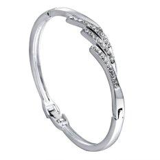 Cocotina Fashion Silver Tone Crystal Rhinestone Bangle Cuff Charm Bracelet Jewellery - Style 2