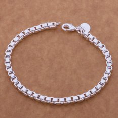 Cocotina Womens Silver Color Cuff Chain Bracelet Jewellery (Intl)