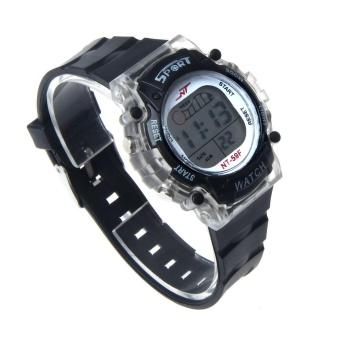 Colorful LED Electronic Sports Watch BK - intl