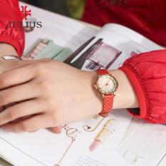 Coobonf Watches Women JULIUS Brand Luxury 2016 Fashion Casual Quartz Watch Leather Clock Lady Wristwatches Girl Dress Relogios Femininos