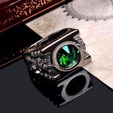 Crystal Green Lantern Ring Party Ring For Men Jewelry - intl