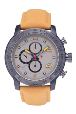 CURREN 8190 Three Sub Dial Watches Watches Men's Scrubs Leather Watches Black Shell Grey Surface