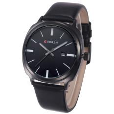 CatWalk Curren Brand Calendar Watch Casual For Men Genuine Leather Quartz Watch (Multicolor) (Intl)