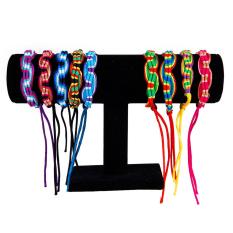 Curving Style Handmade Colorful Knurled Braided Friendship Bracelets Thread Wrist Ankle Bracelets 9pcs Set (Multicolor) (Intl)