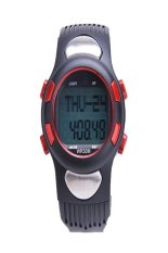 Cyber Fitness 3D Sport Watch Pulse Heart Rate Monitor with Pedometer Calories Counter Watch (Black)