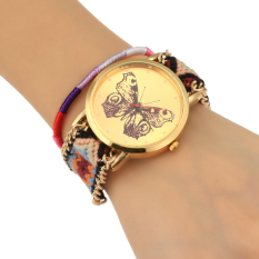 Cyber Women Korean Style Analog Knitted Strap Casual Wrist Watch