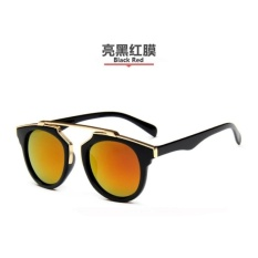 D-Pocket 2017 Fashion Retro Womans Polarized Cat Eyes SunGlasses520 (Black Red) - intl