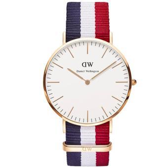 Daniel Wellington 0103DW Jam Tangan Pria Wanita Classic Cambridge 40MM Men Women Genuine Nylon Watch - Blue Red