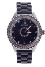 Daybird Women's Black Ceramic Bracelet Diamond Ms. Fashion Quartz Watch