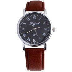 DGJUD - Jam Tangan Unisex - Cokelat Hitam- Strap Leather - Ricko Casual Watch