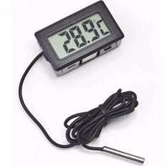 Digital Thermometer with Probe for Aquarium Length 1m Termometer Alat Pengukur Suhu Air Akuarium Sensor Kabel Temperatur -50 Sampai 100 Derajat Celcius Tahan Lama Mudah Dibaca LCD Display Tepat Akurat Kesehatan Ikan Terjaga Water Temperatur