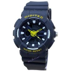 Digitec - DG2065L - Jam Tangan Wanita - Strap Karet - Abu