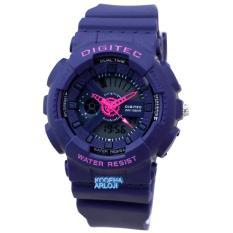 Digitec - DG2065L - Jam Tangan Wanita - Strap Karet - Biru