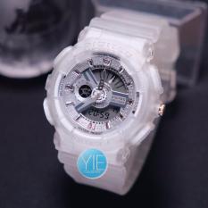 Digitec Jam Tangan Wanita DG 2063 Dual Time Rubber Strap Original - Putih Transparan