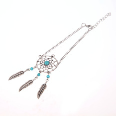 Dreamcatcher Bracelets Leaf Bohemian Alloy Vintage Friendship Jewelry (Intl)