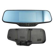 "Dual Lens C20 Car DVR Rearview Mirror Camera Novatek 96650 Full HD 1080.30FPS 12.0MP CMOS 4.3""LCD 170 Degree View Angle - Intl"