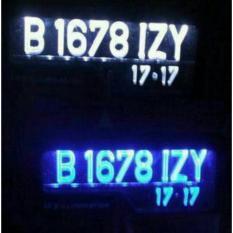 Dudukan Plat Nomor mobil Acrylic dengan lampu LED