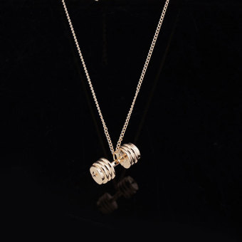 Dumbbell barbell pendant KC (gold)