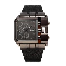 DZ Watches Men Luxury Brand Design Oulm Quartz Watch Squartz Dial Leather Strap Male Military Antique Clock - Intl