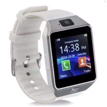 DZ09 Smart Watch Bluetooth Touch Screen for Android and iOS(white) - intl