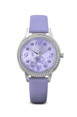 Elle Spirit ES20044S08X - Jam Tangan Wanita - Lavender Leather Strap Women Watches