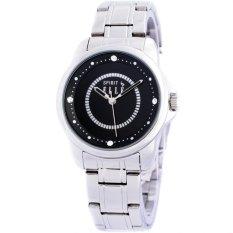 Elle Sprit ES20038B02X - Jam Tangan Wanita - Stainless Steel - Silver Black