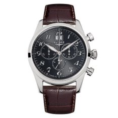 Elysee Male Classic Chrono Big Date Jam Tangan Pria - Cokelat - Strap Leather Strap - 38016