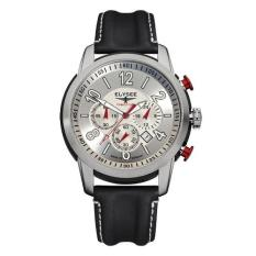 Elysee Male Watches The Race I Jam Tangan Pria - Silver - Strap Leather Strap - 80523L
