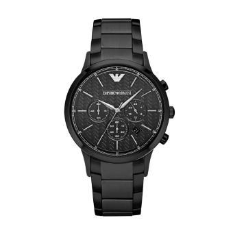 Emporio Armani Watch Classic Chronograph Black Stainless-Steel Case  Stainless-Steel Bracelet Mens Swiss 696f941456