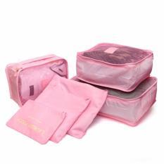 emyli Travel bag set 6in1 Tas Travel Bag in Bag Storage Baju Celana Koper Luggage