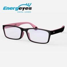 ENERGEYES Kacamata Komputer Anti Radiasi Melindungi Mata & Mengurangi Blue Light sampai 50% Dewasa warna depan Hitam belakang Pink