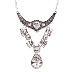 EOZY New Fashion Vintage Style Women Ladies Eye-Catching Rhinestone Pendant Choker Necklace Charming Water Driplet Pendant Necklace