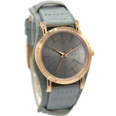 Esprit ES906582001 Jam Tangan Wanita Abu Ring Rosegold Leather Strap