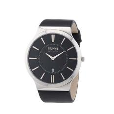 Esprit Watch Esprit Collection Black Stainless-Steel Case Leather Strap Mens NWT + Warranty EL101381F03