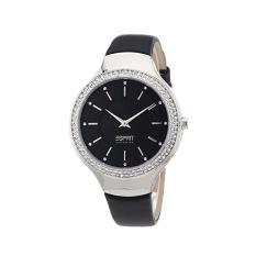 Esprit Watch Keres Black Stainless-Steel Case Leather Strap Ladies NWT + Warranty EL101542F01