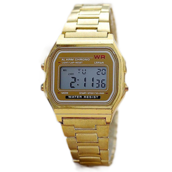 ETOP Gold & Silver Couple Watch Electronic Digital Clock With Led Light Clock (Gold)