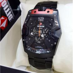 Expedition E67233 - Jam Tangan Pria - Stainless Steel (Hitam List Merah)