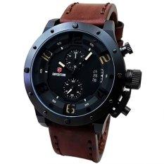 Expedition - Jam Tangan Pria - Leather Strap - EX260DB – Black