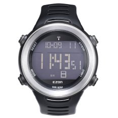 EZON Multi-functional Leisure Outdoor Running Sports Watch High-end 5ATM Water Resistance Man Wristwatch With Function Of Calendar Chronograph Alarm Hourly Chime Unique Waves Watch - Intl