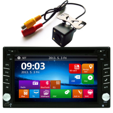 Ezonetronics Car DVD GPS Navigation 2DIN Car Stereo Radio GPS Bluetooth USB / SD Universal Player With Rear View Camera